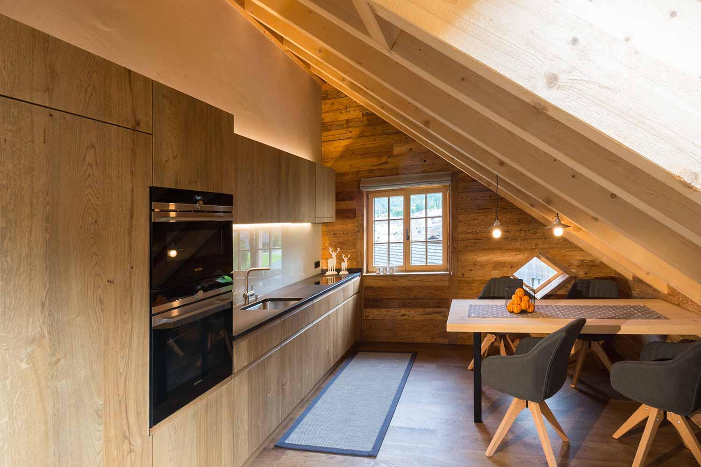 Kanisfluh Wohnküche Küchenbereich